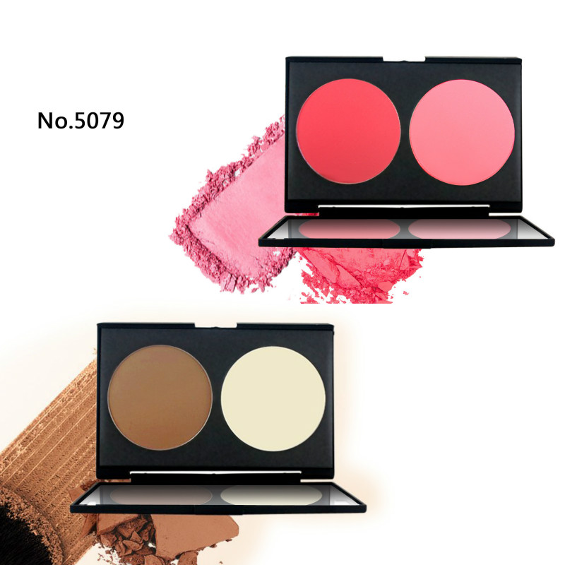 Double Color Glistening Blush Grooming Good Looking Bright Skin Colour Makeup  Palette Powder