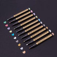 STA – stylo marqueur métallique 10 couleurs, stylo Graffiti multicolore Para métal huile marqueur blanc, stylo Sharpie pour papeterie fournitures scolaires
