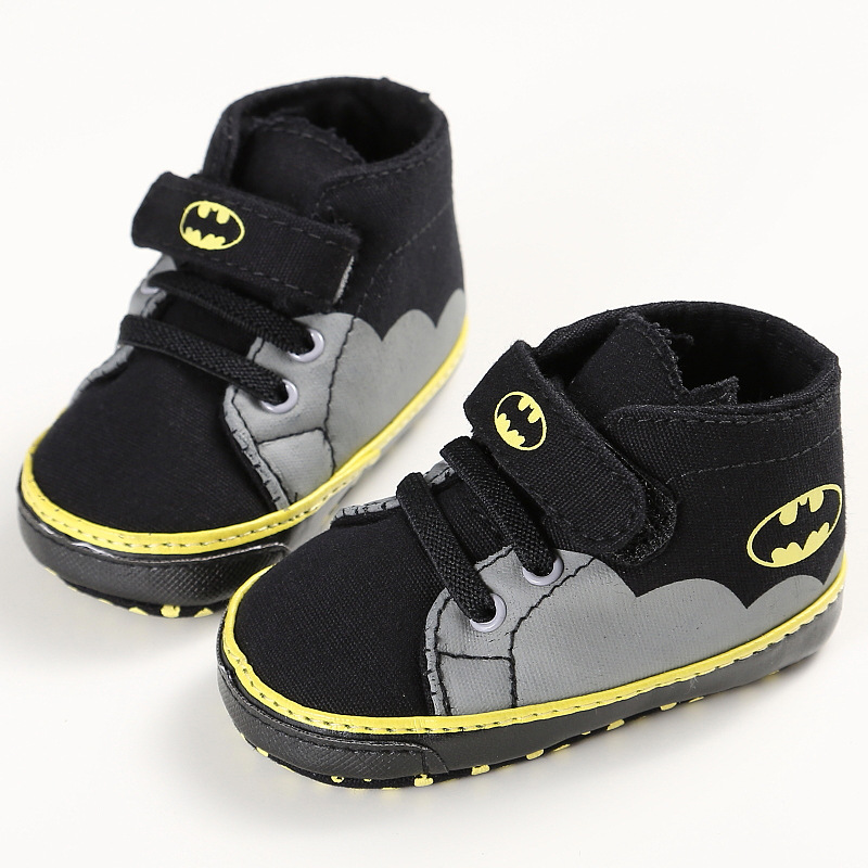 Fashion Baby Shoes Casual Sneakers Crib Baby First Walkers Boys Toddler Cartoon Batman Canvas Kids Footwear 0-18M DS9