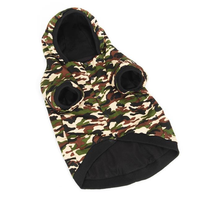 HOOPET New  Big Dog  Camouflage Uniforms Double Thick Clothes  Warm Parkas Pet Supplies wholesale/retail