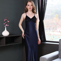 19momme благородный шелк Длинные комбинация сексуальная ночная рубашка женские длинные ночные рубашки Лето невесты спальный платье элегантно