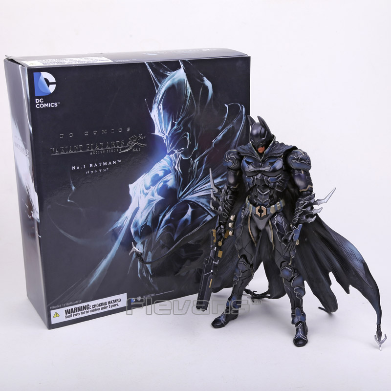 SQUARE ENIX Play Arts KAI DC COMICS NO.01 Batman PVC Action Figure Collectible Model Toy 27cm play arts kai street fighter iv 4 gouki akuma pvc action figure collectible model toy 24 cm kt3503