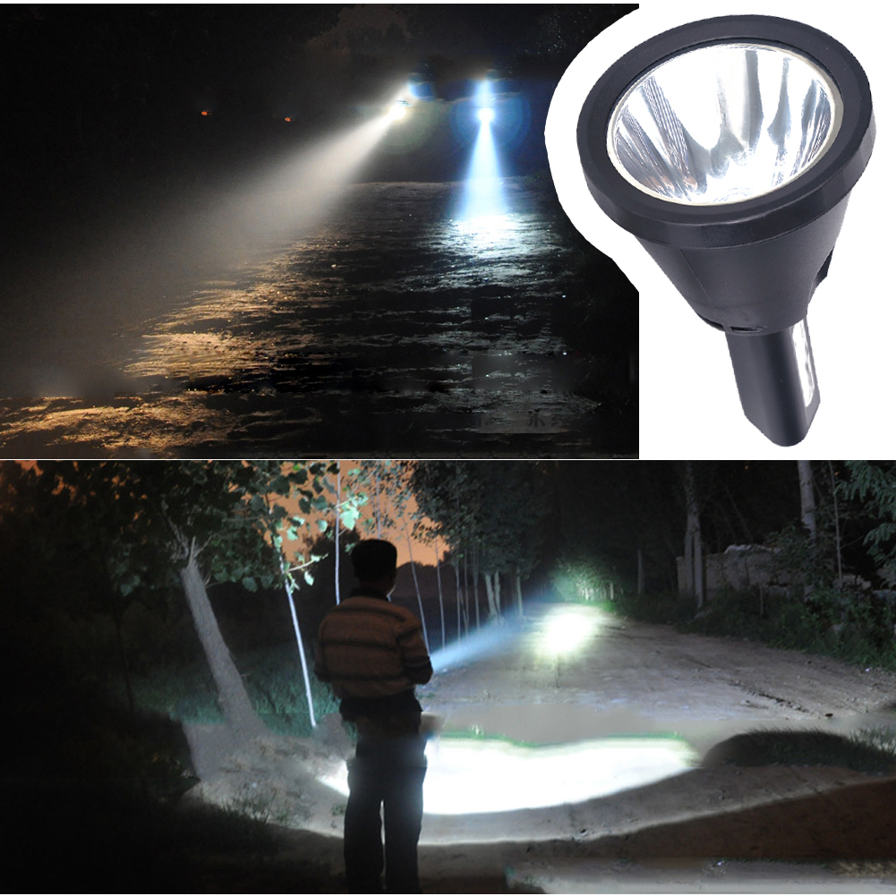 High Power Led Portable Hand held Hunting Flashlihg CREE U2 Rechargeable Battery Searchlight OutdoorLighting Fishing From Russia in LED Flashlights from Lights Lighting