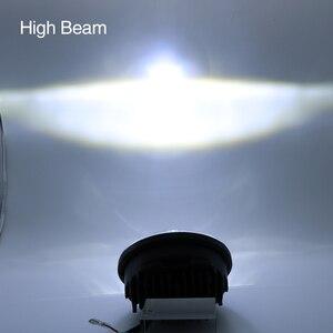 Image 4 - 5.75 Inch Moto LED Đèn Pha Full Hào Quang Đèn Bộ Cho Ban Đêm Thanh Sắt 883 Dyna Sportster 1200 Ấn Độ Hướng Đạo Triumph