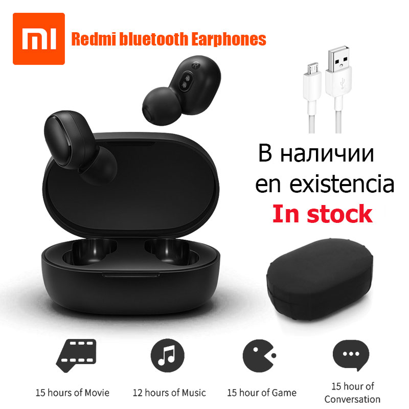 Xiaomi Redmi Airdots True Wireless bluetooth Earphones TWS 5.0 Original xiaomi Air Airdots pro headset DSP With Mic InStockXiaomi Redmi Airdots True Wireless bluetooth Earphones TWS 5.0 Original xiaomi Air Airdots pro headset DSP With Mic InStock