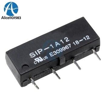 Módulo de interruptor de relé de 5 piezas cc 12V SIP-1A12 de lengüeta seca módulos de relé de 4 pines