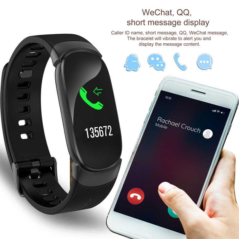 ליגע נשים חכם צמיד עבור אנדרואיד IOS נייד טלפון Bluetooth שעון קצב לב לחץ דם ניטור בזמן אמת זיהוי