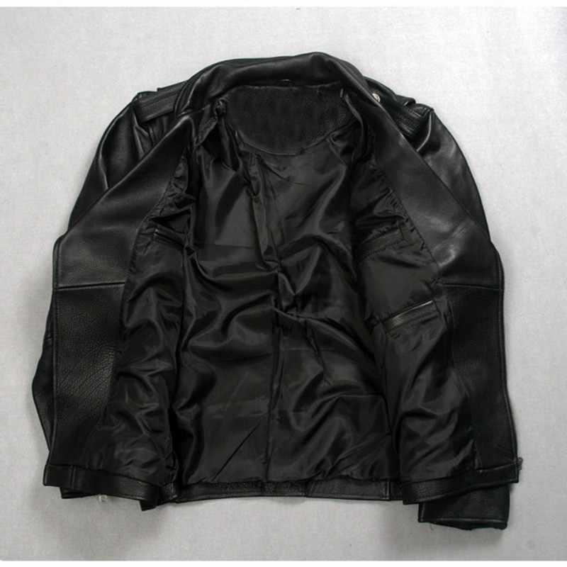 High Quality Fashion Mens Punk Belted Real Leather Waistcoat Slim Fit Moto Riding Biker Jacket Zip Coat Italian Designer Biker Design Jackets Biker Fashion Jacketsbiker Jacket Aliexpress