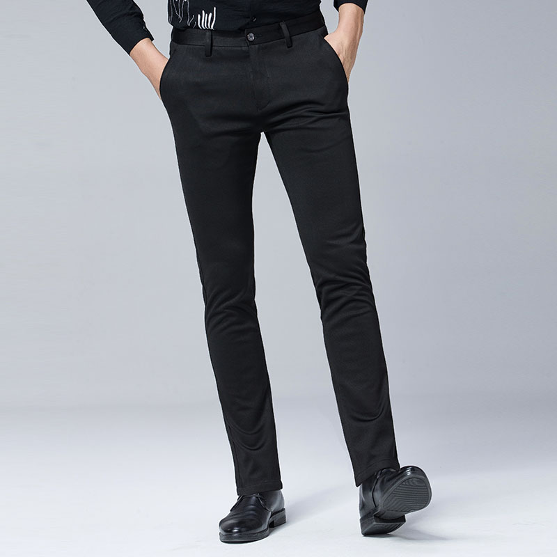 KunYuLang casual male straight male pants classic black trousers thickening pants big plus size 29~40 A3201