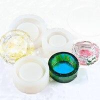 Siliconen Crystal Resin Mold Asbak Ronde Embedden Fun Artikelen Epoxy Decor Mallen Schimmel Transparante Handgemaakte DIY Ambachtelijke Klei Tool