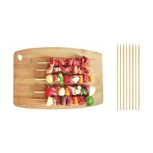 Yooap 400 root natural bamboo skewers - wooden skewers, barbecue sticks, fruit chocolate fondue fountain 15 cm