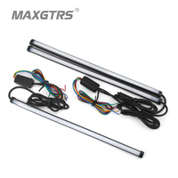 Universal 30cm 45cm 60cm Car LED Super White Waterproof Flexible DRL Daytime Running Light Driving Fog