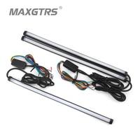 Universal 30cm 45cm 60cm Car LED Super White Waterproof Flexible DRL Daytime Running Light Driving Fog