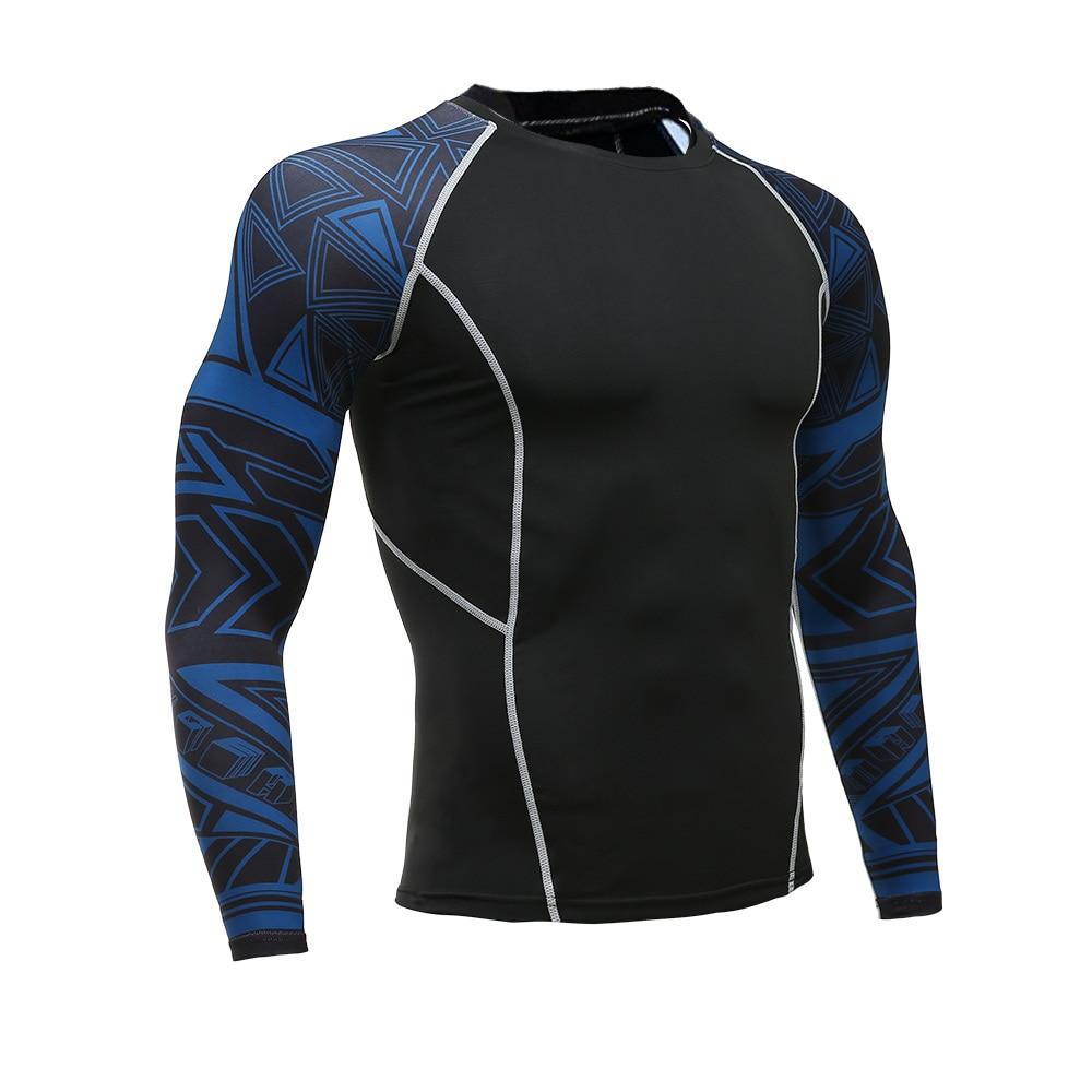 Men Rashguard Sportswear Male Long Sleeve Gym T-shirt Suits Mma Rashguard Fitness Running Shirt Crossfit Bodybuilding Men Shorts Boxing