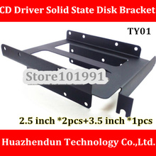High Quality PCI Tray CD-Driver Solid State Disk Bracket Desktop SSD 2.5 inch *2PCS +3.5 inch *1PCS SSD Tray
