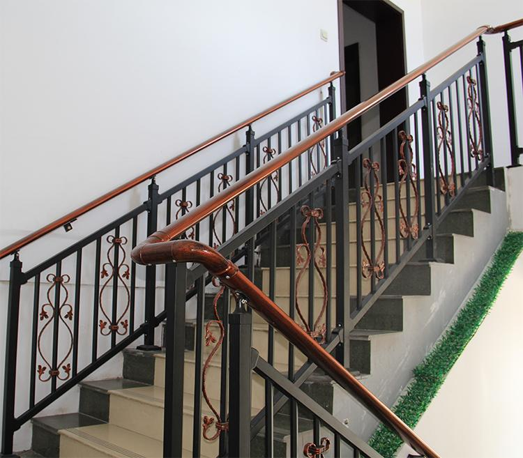 Zinc Steel Stair Railing And Stairs Villas Outdoor Household | Aluminum Outdoor Stair Railing | 2 Step | Pressure Treated Deck Black | Commercial | Modern | Front Entrance