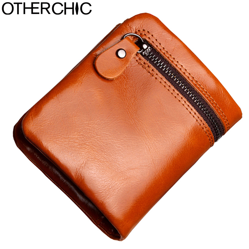 OTHERCHIC Genuine Leather Women Short Wallet Small Wallet Coin Card  Pocket Wallet Female Purse Money Clip 17Y06-04 2016 new arrival high quality genuine leather wallet female cowhide money bag women purse short wallet zipper small coin pocket