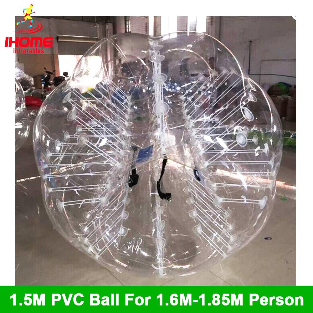 1.5M PVC Bubble Soccer ფეხბურთი იყიდება პლასტიკური ზრდასრული ბუშტის ბურთი