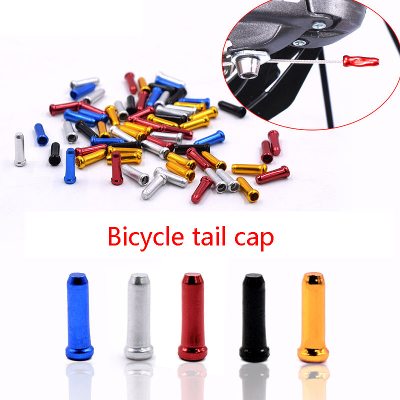 Bike Tool Bicycle Accessories Line Tail Brake Bicycle Gear Speed Cover Cap Aluminum Derailleur Alloy Color *30