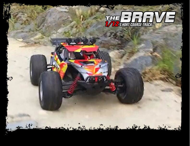 1/12 4WD High Speed Amphibious remote control RC Car FY10 High-performance water land Short Course RC Off-road Racing car toy 5