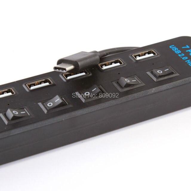 Usb 3.1 тип с до несколько 7 разъём(ов) USB 2.0 включения / выключения концентратор адаптер для портативных пк планшет Macbook