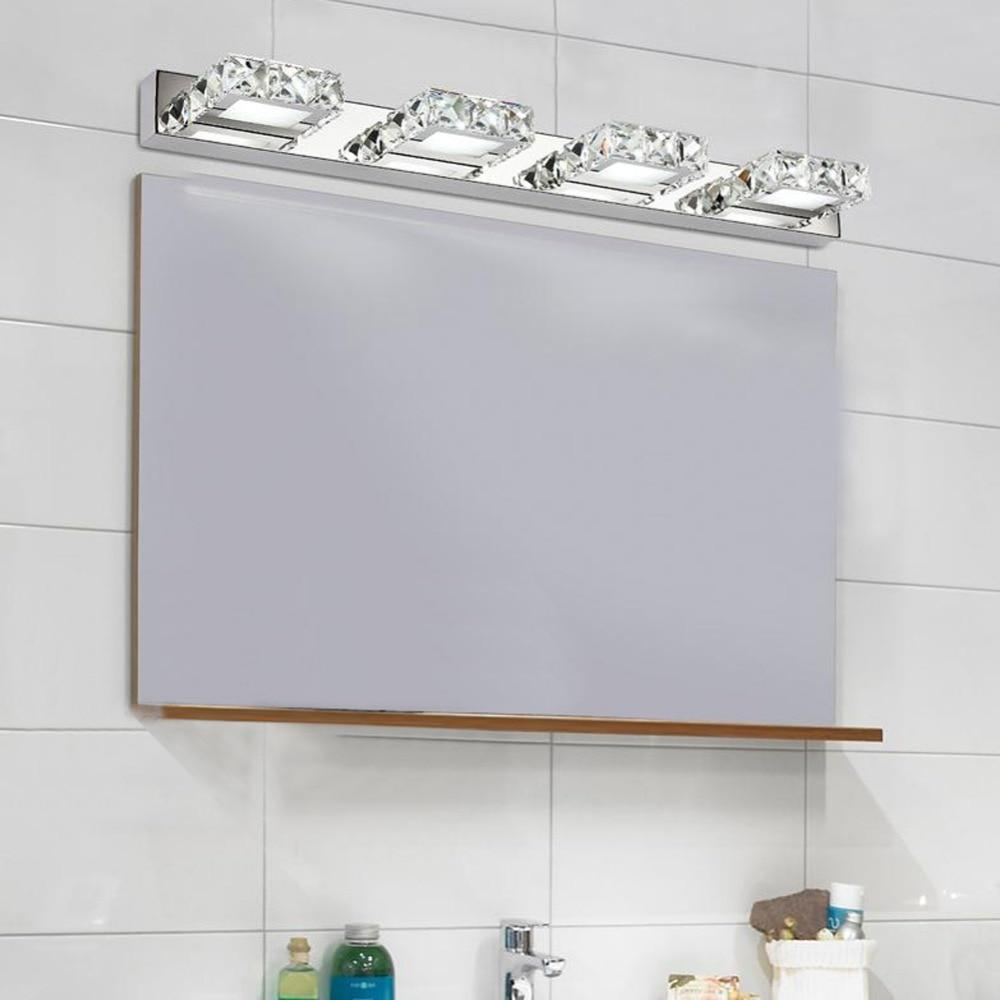Bathroom Vanity 3 Light Fixture Aged Bronze Mason Jar Wall Lighting Allen Roth: Fashion Modern 2/3/4 Head LED 12W Power Crystal Mirror Light Bathroom Bathroom Toilet Waterproof