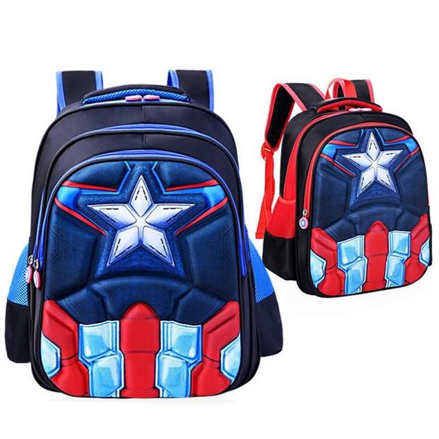 Captain America School Bags For Boys 3d Cartoon Children Backpack S Book Kids