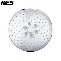 KES Push Button Overhead Shower Head 10 Inch Extra Large Rainfall Fixed Showerhead Rain Shower System 3 Function Chrome, J313