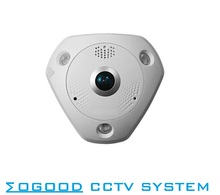 Hikvision International Version DS-2CD6362F-IVS 6MP Fisheye View Outdoor Waterproof  IP Camera Support EZVIZ SD Card PoE IR