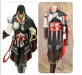 Anime role play clothing prop assassin's creed II ezio auditore da firenze, black edition, Halloween cosplay free shipping