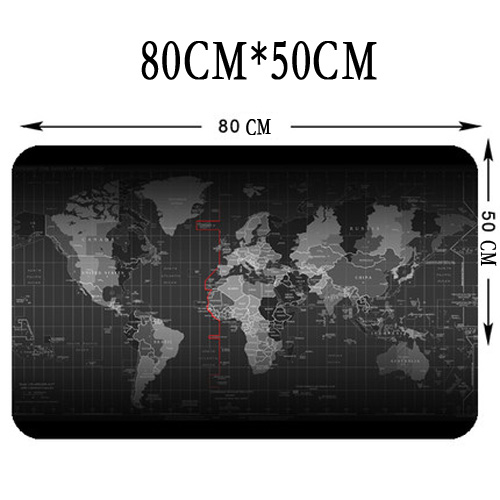 World Map Large Size 800*500* 3mm Quick custom rubber speed game mouse pad lasting computers and laptops  Mat Gaming Mousepad metal adjustable arm rest wrist support extended mousepad rotation ergonomic mouse pad shoulder protect for office game