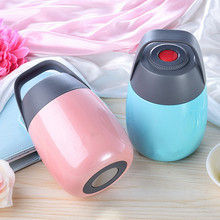 Stainless Steel Thermos cup Food with Containers Insulated Thermal Lunch Box Soup Mug Container for Kids Carrying Bag
