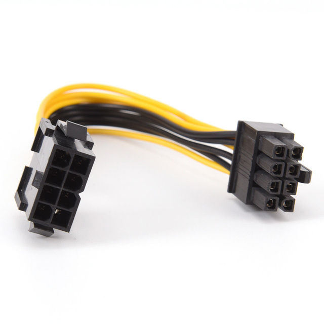 19 cm 8 Pin tới 8 Pin ATX EPS Nam cho Nữ Power Mở Rộng PSU Mainboard Điện Extension Adapter Cable