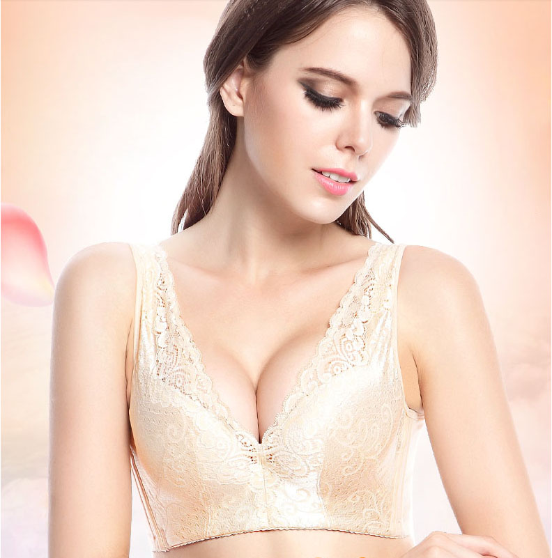 efebc196fc 2019 new deep V sexy beauty back gathered adjustable bra large size A B C D cup  bra lace. US  15.45. girl pastoral ...