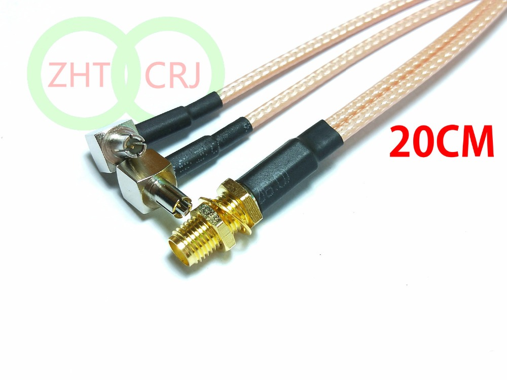 20PCS SMA female TO Y type 2X L TS9 male Splitter Combiner cable RG316