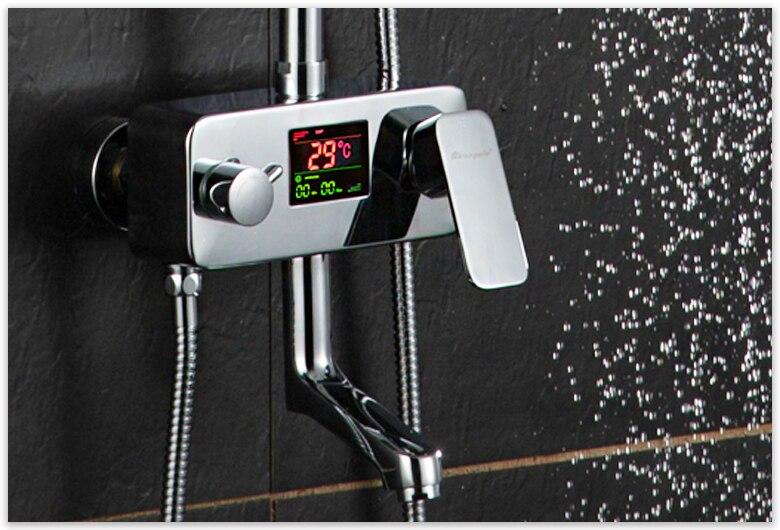 luxury rain shower aliexpresscom buy digital display shower faucet luxury rain