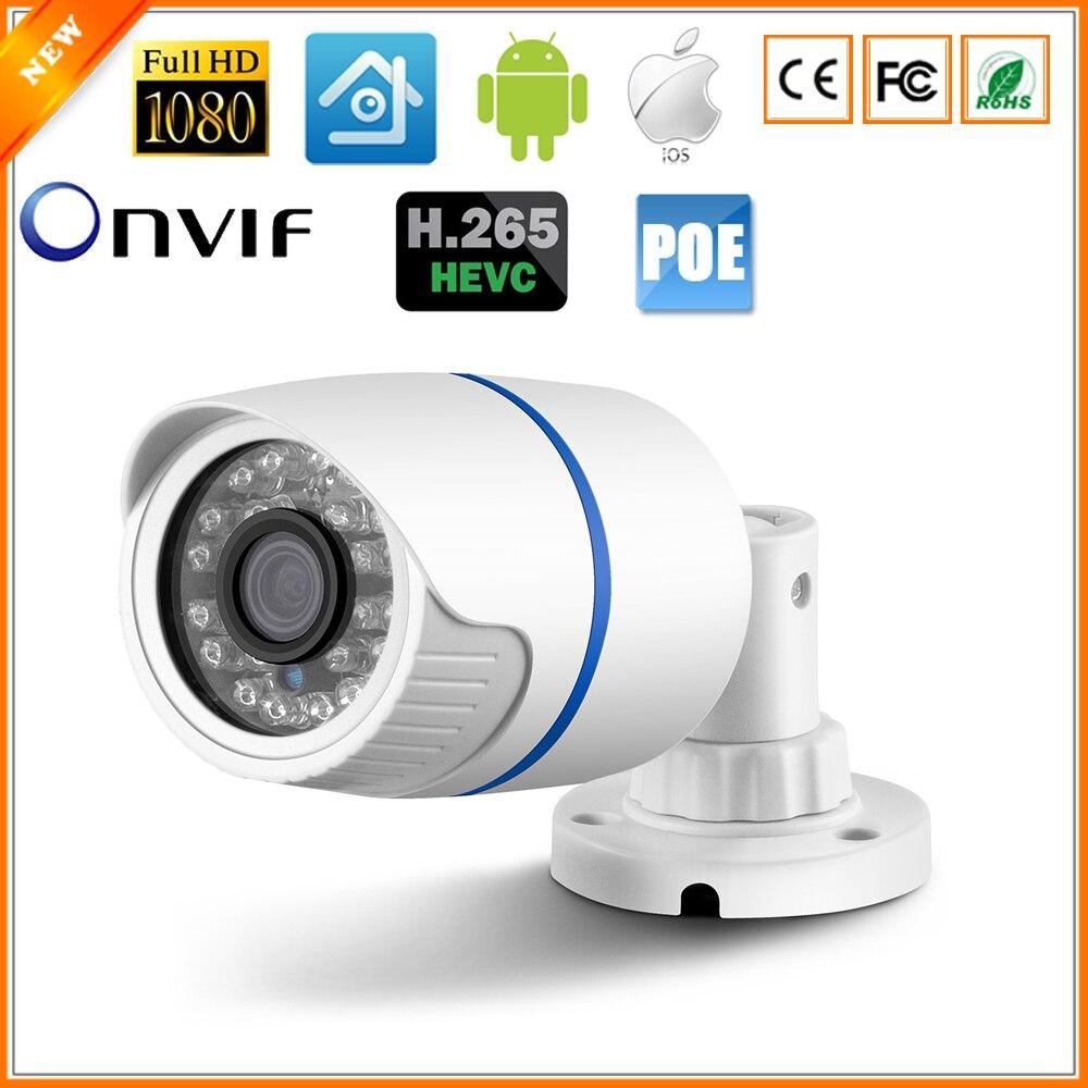 bilder für H.265 FULL HD 1080 P 2MP Ip-kamera HI3516D + 1/2. 7 AR0237 IR Außengewehrkugel Sicherheit Kamera ONVIF DC 12 V 48 V PoE Version Optional