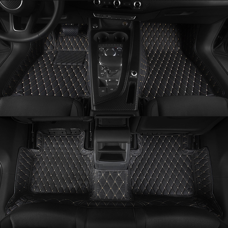 lsrtw2017 leather car floor mats for audi a5 2007 2020 2019 2018 2017 2016 2015 2014 2013 2012 2011 2010 2009 2008 accessories