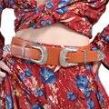 Guiño Gal Boho Del Estilo de la Correa de Las Mujeres de lujo Del Diseñador de LA PU de Cuero Elástico Cinturones Femeninos Para Las Mujeres 10849