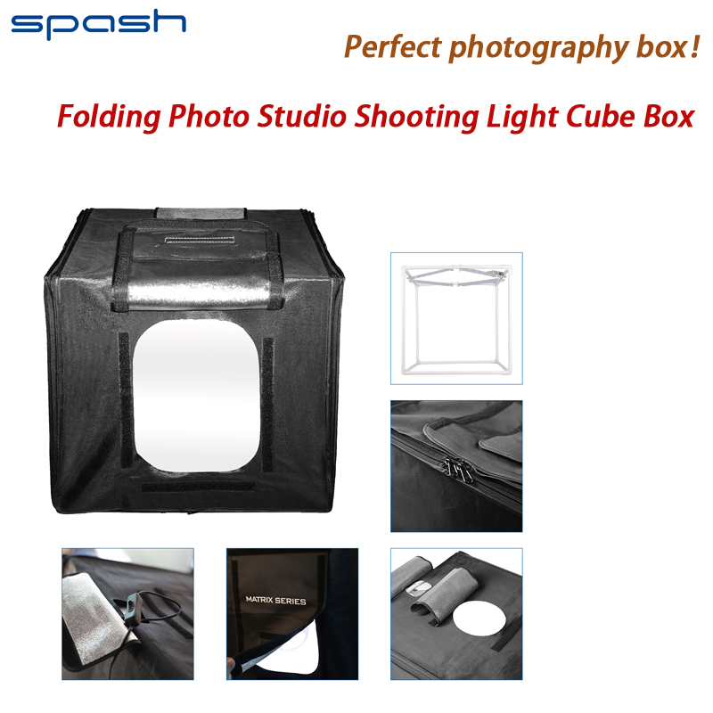 Fotografía de caja 40*40*40 cm 5500 K Temperatura plegable portable Photo Studio