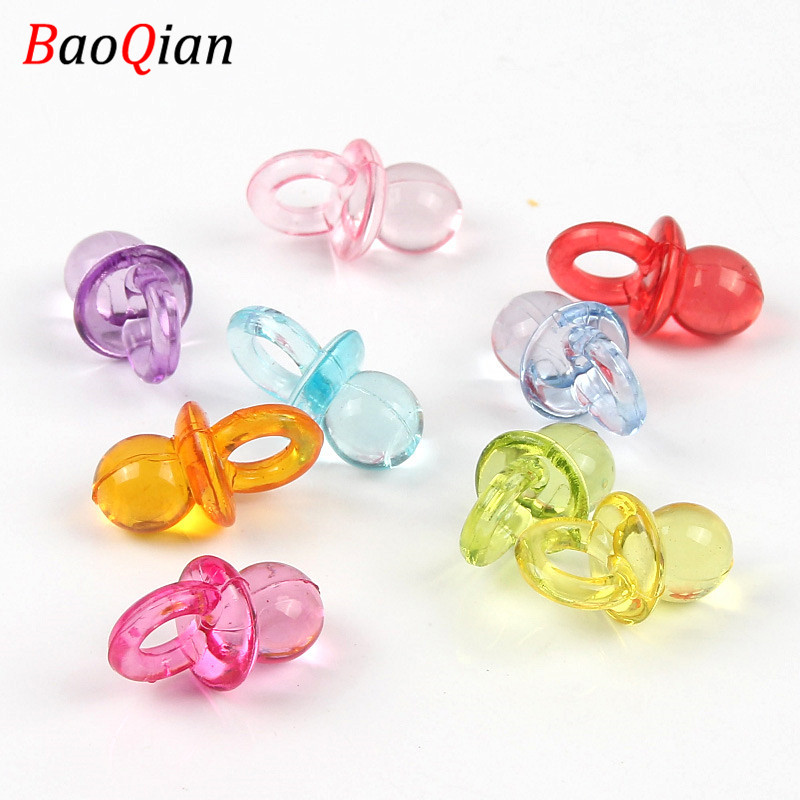 20PCS Acrylic Pacifier Beads DIY Cute Candy Color Loose Beads Making Children's Toys Creative Ornaments 12x21mm(China)
