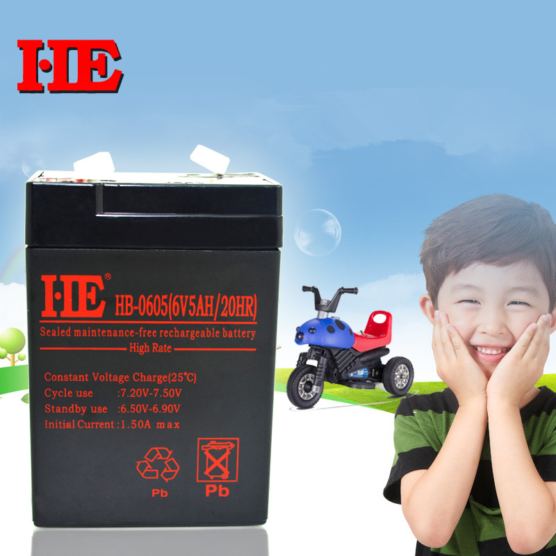 New arrival 6v 5ah 20HR rechargeable battery toy car battery fire emergency light battery baby carrier battery 4ah 4.5ah HB-0605 все цены