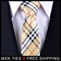 Primavera Novo Estilo Homens laços Para Presentes de Negócios dos homens Clássicos Gravatas Chequers Frete grátis