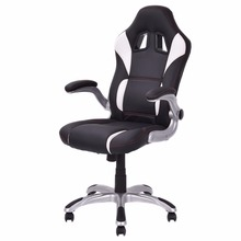 Goplus High Back Executive Racing Style Office Chair Pu Leather Adjustable Armrest Lifting Swivel Computer Gaming Chair HW52841