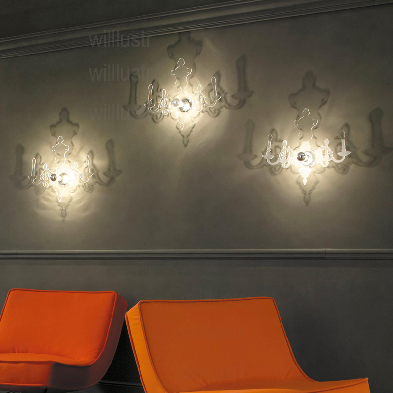 Image 5 - LOUIS 5D Candle Wall Sconce Lamp Modern Transparent Red Black Acrylic PMMA France Design Hotel Bar Cafe Restaurant Light Fixture-in LED Indoor Wall Lamps from Lights & Lighting