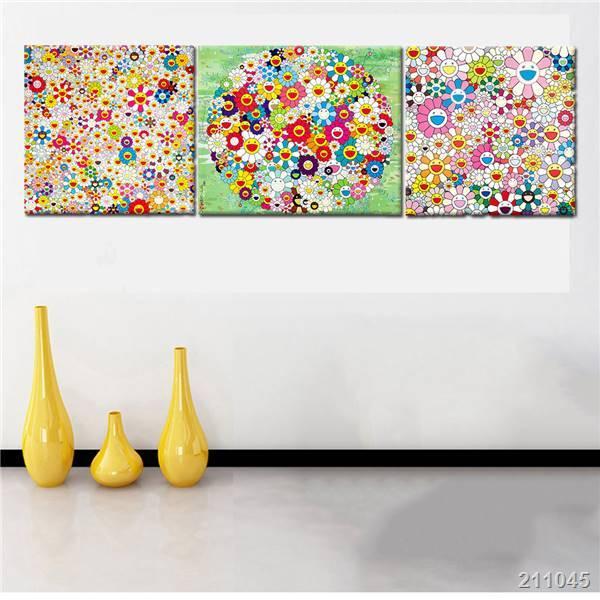 3 Panel Moderne Kunst Leinwand Malerei Takashi Murakami Farbe Blumen  Dekoration Wandkunst Für Wohnzimmer Unframed Living