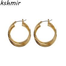 Simple circular geometric stud earrings fashion popular wedding banquet