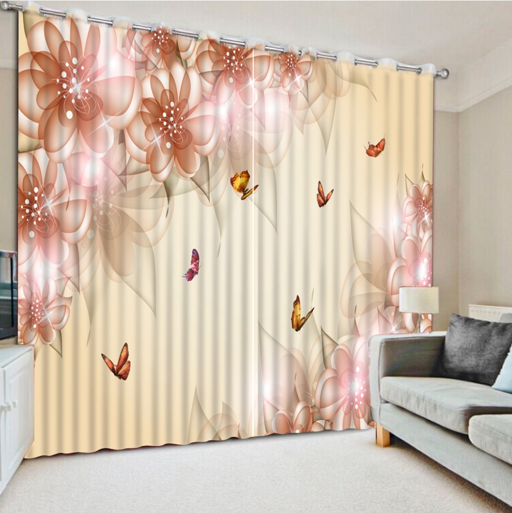 Photo any size Curtains for living room fashion flower window curtain  living room decorative home decor window curtain decors