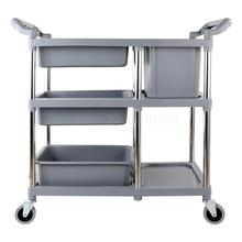 Trash-Cans Cart Dining-Car Hotel Bowls Collecting Multi-Function Commercial Restaurant