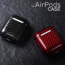 Stofdicht Schokbestendig Koolstofvezel Oortelefoon Beschermhoes Voor Apple Airpods Slim Light Cover Voor Apple Airpods Pro 3 2 1 case